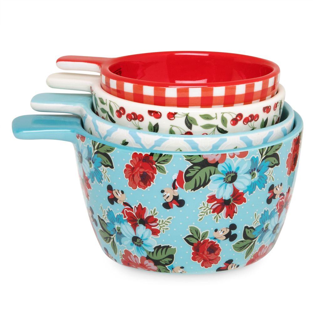 Mickey and Minnie Mouse Retro Ceramic Measuring Cups