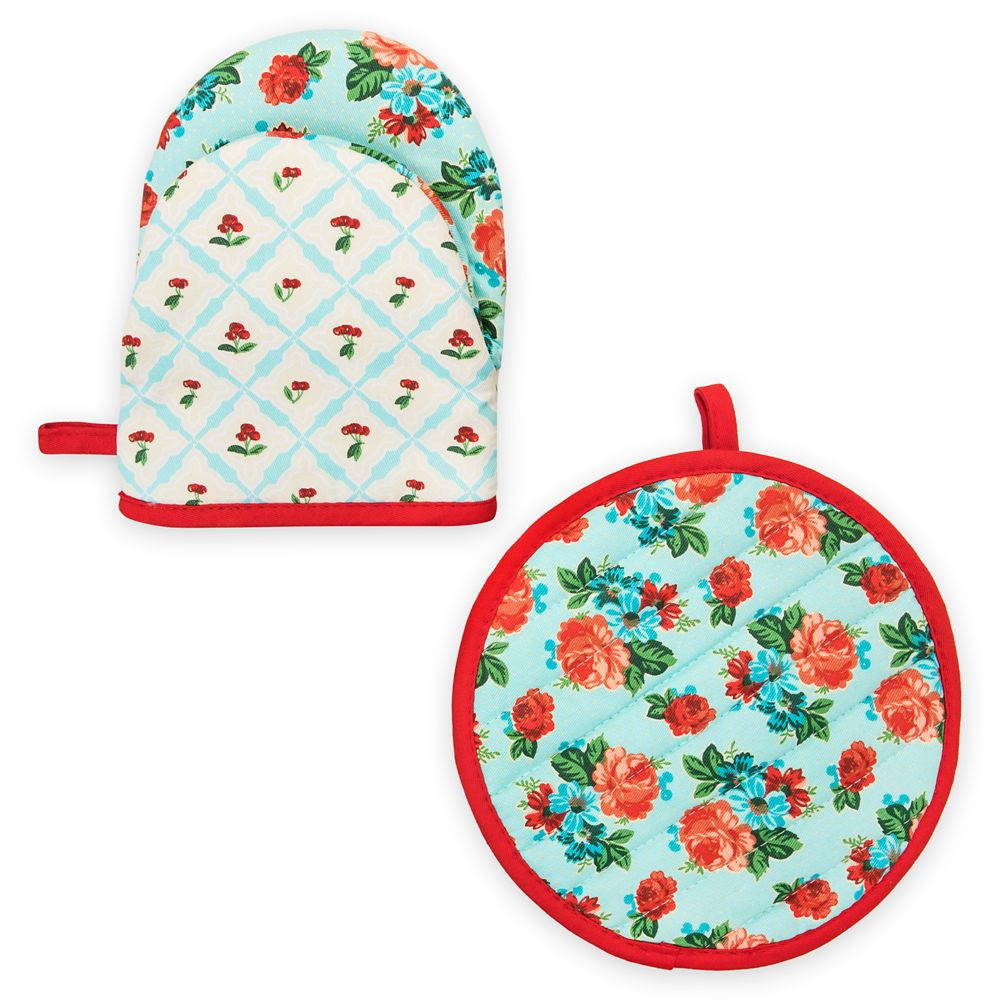 Mickey and Minnie Mouse Retro Oven Mitt Set