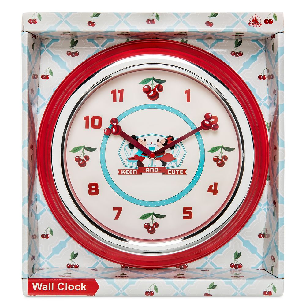 Mickey and Minnie Mouse Retro Wall Clock