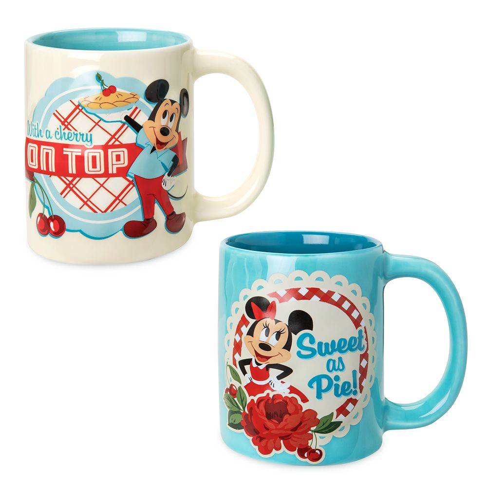 Mickey and Minnie Mouse Retro Mug Set