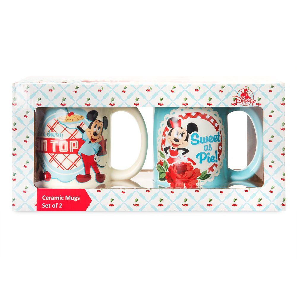 Mickey and Minnie Mouse Retro Mug Set