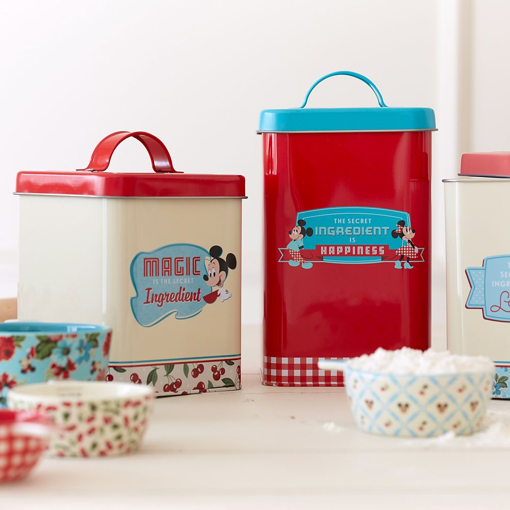 Mickey and Minnie Mouse Retro Kitchen Canister Set