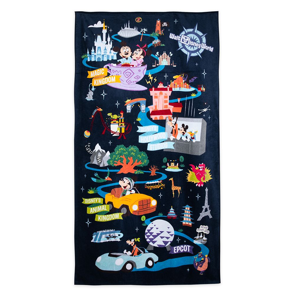 Mickey Mouse and Friends Beach Towel – Walt Disney World