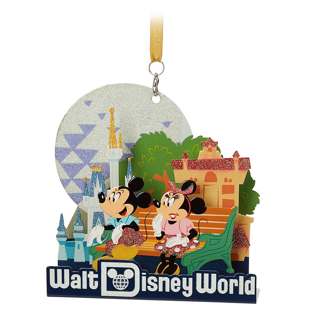 Mickey and Minnie Mouse Diorama Ornament – Walt Disney World