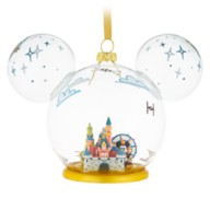 Mickey Mouse Icon Disneyland Glass Ornament