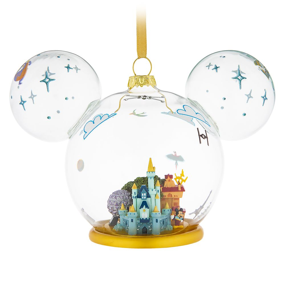 Mickey Mouse Icon Walt Disney World Glass Ornament