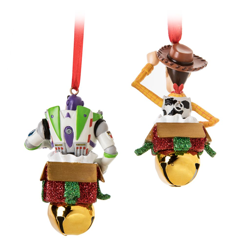Woody and Buzz Lightyear Bell Ornament Set