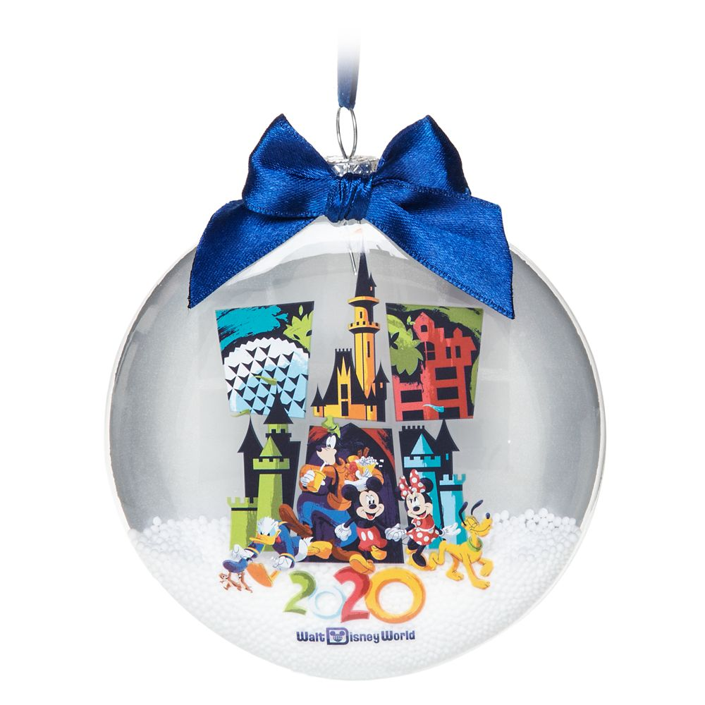 Mickey Mouse and Friends Glass Disk Snowglobe Ornament – Walt Disney World 2020