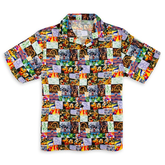 Mickey Mouse and Friends Button-Up Shirt for Men