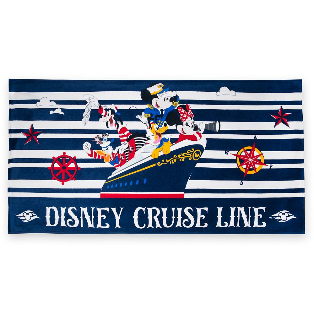 Captain Mickey Mouse and Friends Beach Towel – Disney Cruise Line