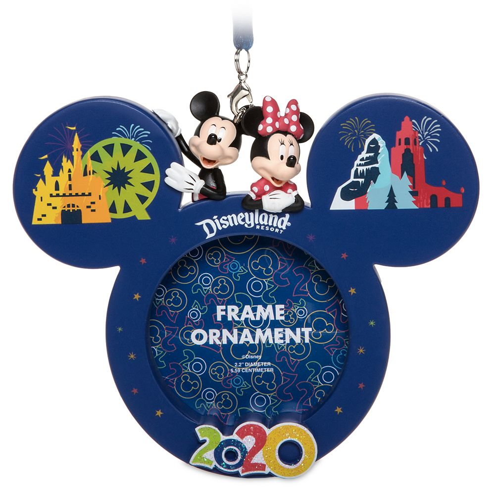 Mickey and Minnie Mouse Frame Ornament – Disneyland 2020