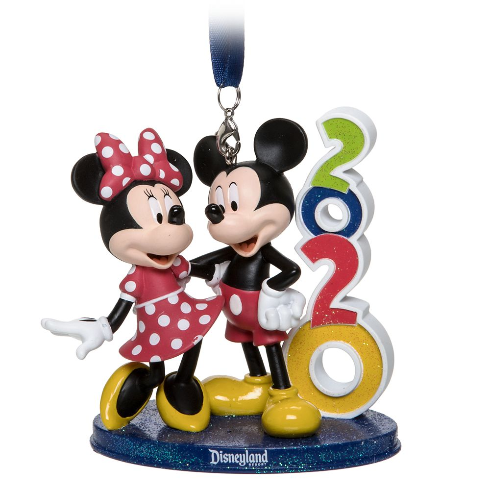 Mickey and Minnie Mouse Figural Ornament – Disneyland 2020