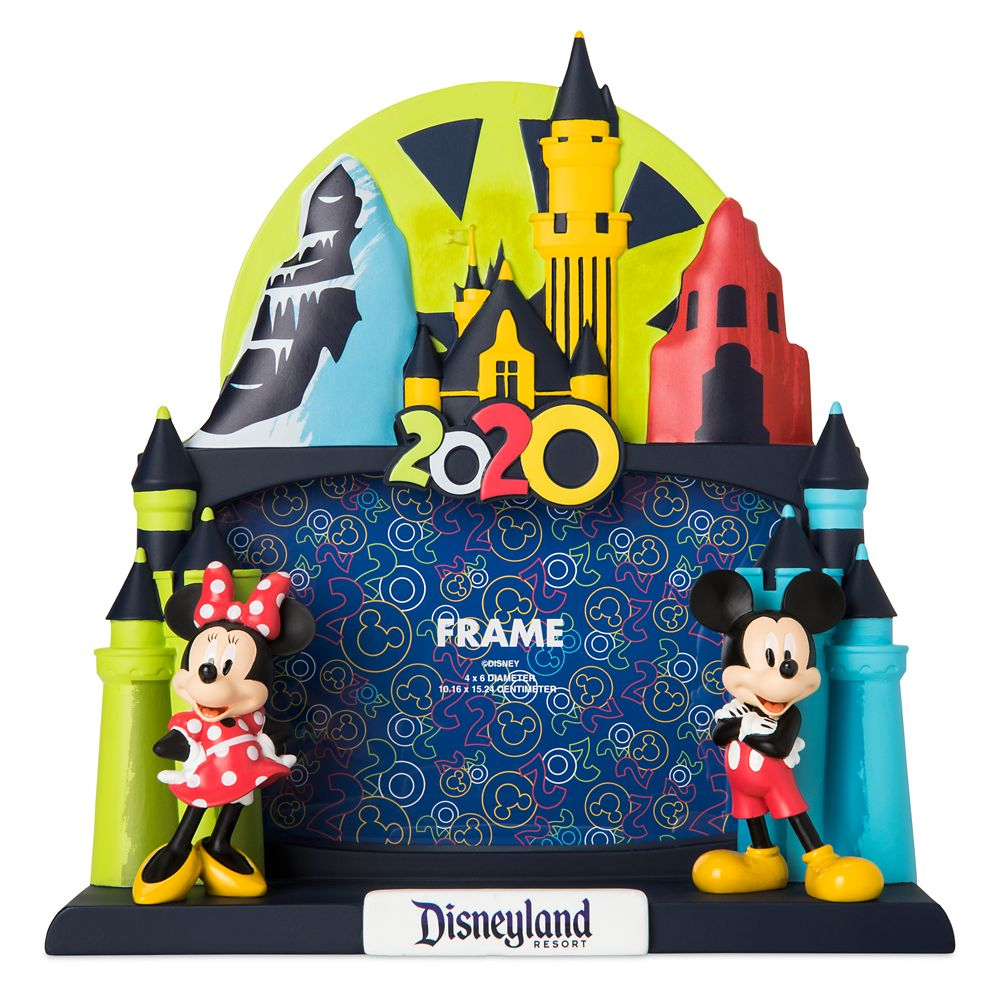 Mickey and Minnie Mouse Dimensional Photo Frame – 4'' x 6'' – Disneyland 2020