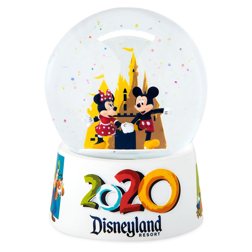 Mickey and Minnie Mouse Mini Snowglobe – Disneyland 2020