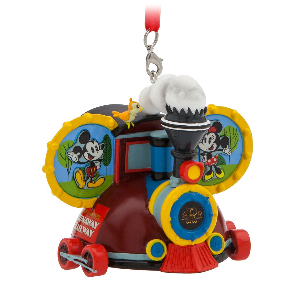 Mickey and Minnie Mouse Runaway Railway Ear Hat Ornament