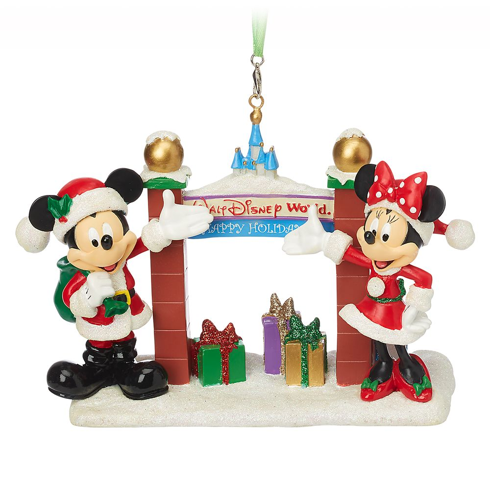 Santa Mickey and Minnie Mouse Figural Ornament – Walt Disney World