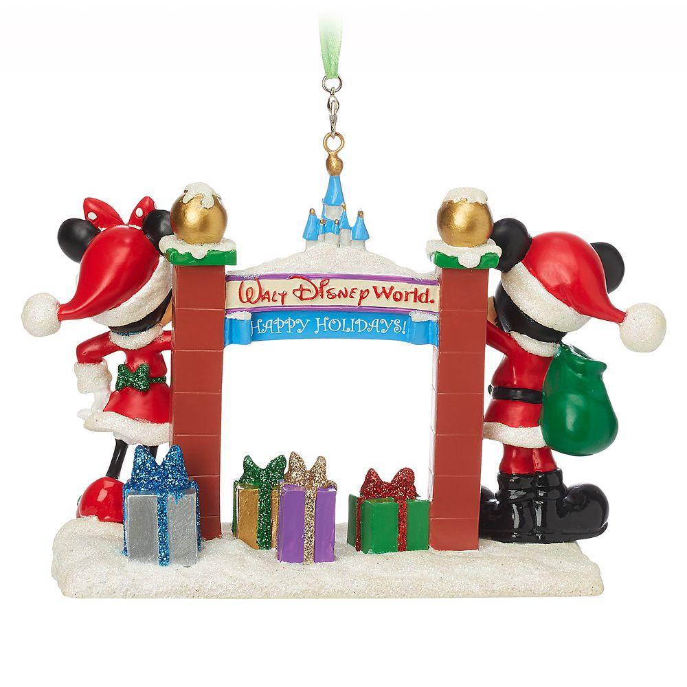 Santa Mickey and Minnie Mouse Figural Ornament – Walt Disney World