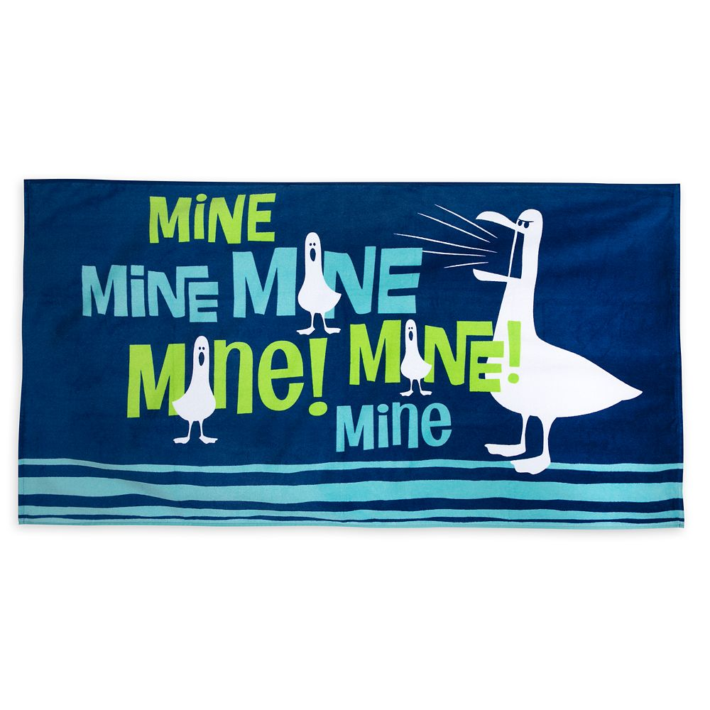 Finding Nemo Seagulls ''Mine! Mine! Mine!'' Beach Towel