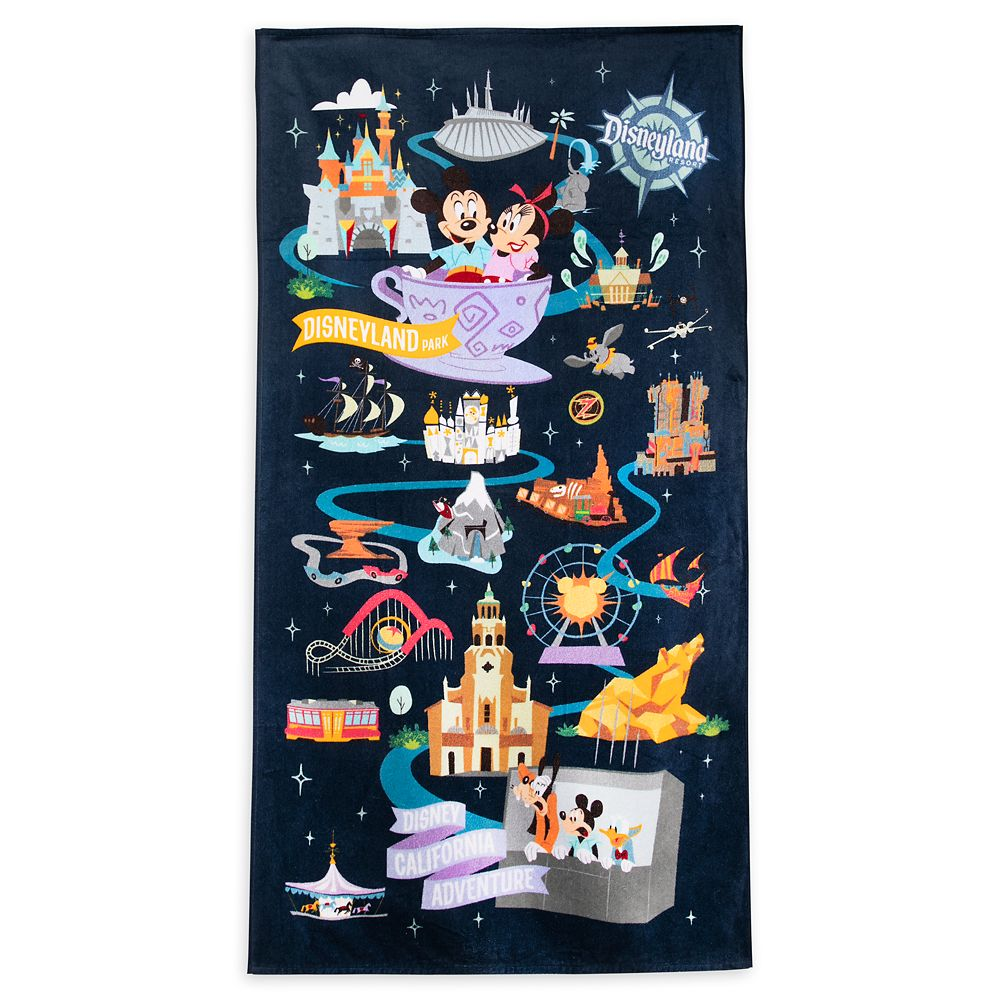shopdisney.com - Mickey Mouse and Friends Park Life Beach Towel  Disneyland 26.99 USD