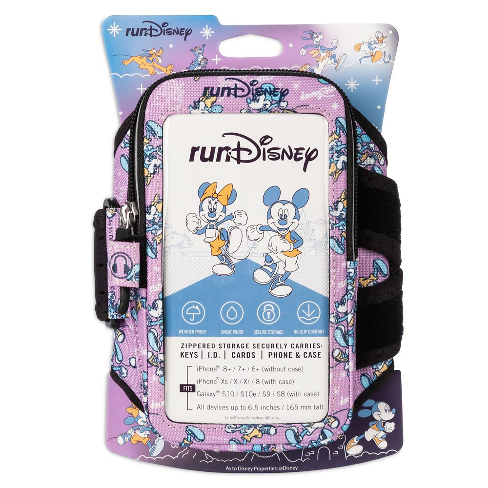 Mickey and Minnie Mouse runDisney Arm Pocket