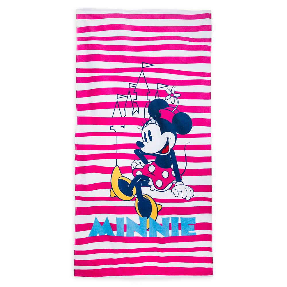 Minnie Mouse Beach Towel | shopDisneyshopDisney LogoSearch IconSearch IconImage Carousel Arrow RightImage Carousel LeftLocation IconSign In IconMinicart IconMinicart Icon (Blank)Caret IconCaret icon thinLeft ArrowRight ArrowCheckbox CheckFilter dropdown arrowCloseZoom CloseClock IconPlus IconMinus IconoffersExclamation IconDisney Account LogoWarning IconMenu IconStepper/Minus/ActiveStepper/Plus/ActiveCalendar IconPlay SoundMute SoundRemove PromoRemove PromoFairy GodmotherMagic WandShare Wish List LinkShare Wish List on FacebookShare Wish List on TwitterZoom CloseArrow DownArrow Upmickey-timeShare Wish List on EmailCalendarAdd to bag plus iconalert-circle@1xPersonalization ErrorTwitter IconPinterest IconFacebook IconInstagram IconMy Account Edit IconMy Account Email IconMy Account Mickey IconshopDisney LogoiconHeartClose Toggle NavigationUser IconCaret IconStores and events imageErrorA filled heart image to represent removing a product from the wishlistAn empty heart iconCalendar IconProduct DetailsProduct DetailsShipping & DeliveryShipping & DeliveryReviewsReviews