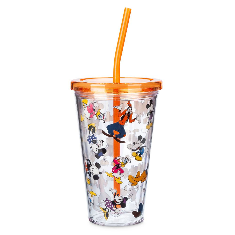 Mickey Mouse and Friends Tumbler with Straw – Medium