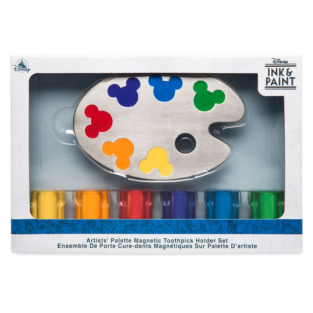 Disney Ink & Paint Magnetic Toothpick Holder Set