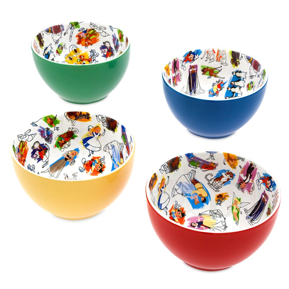 Disney Ink & Paint Ceramic Bowl Set