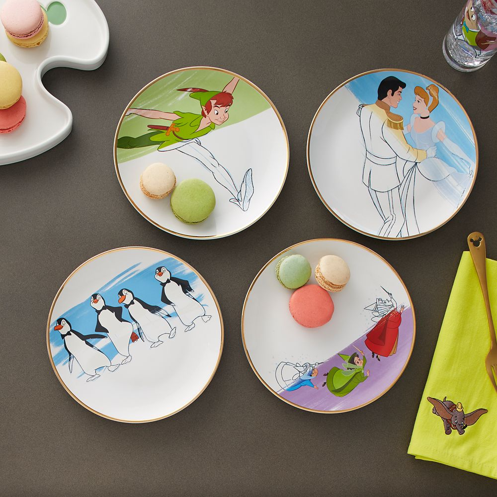 Disney Ink & Paint Ceramic Salad Plate Set – '50s - '60s