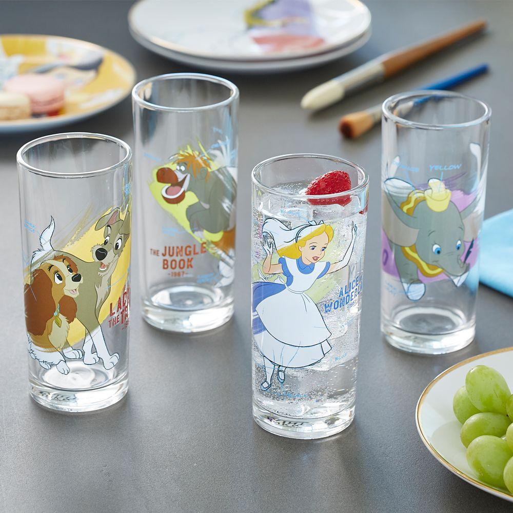 Disney Ink & Paint Drinking Glass Set 1 – '40s - '60s
