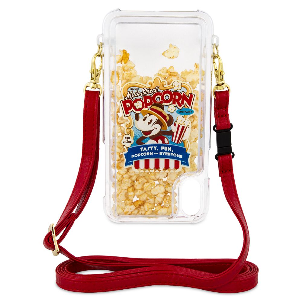 Mickey Mouse Popcorn iPhone XS Case with Crossbody Strap
