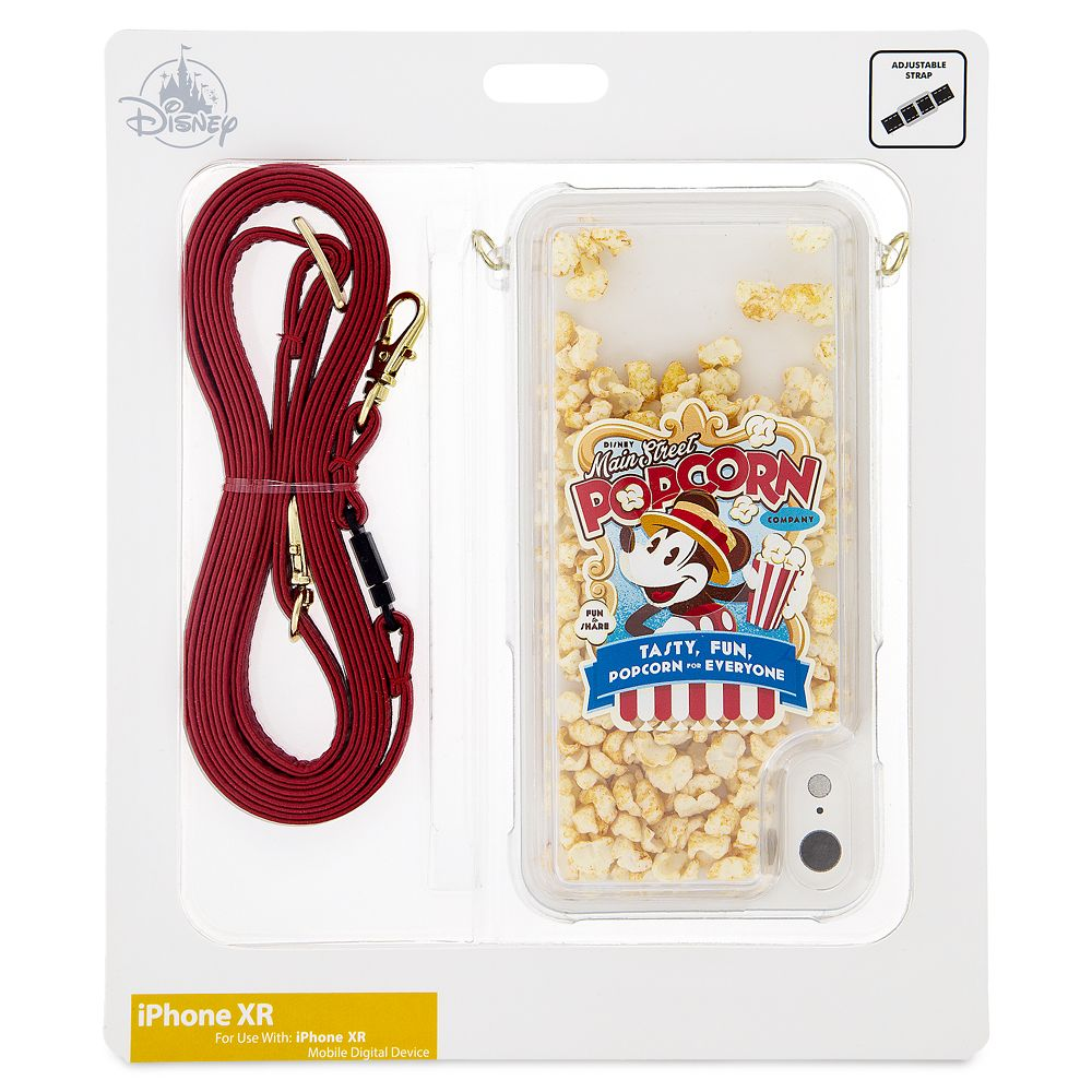 Mickey Mouse Popcorn iPhone XR Case with Crossbody Strap