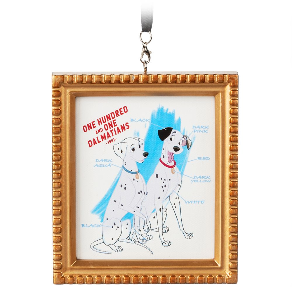Pongo and Perdita Framed Canvas Ornament – 101 Dalmatians