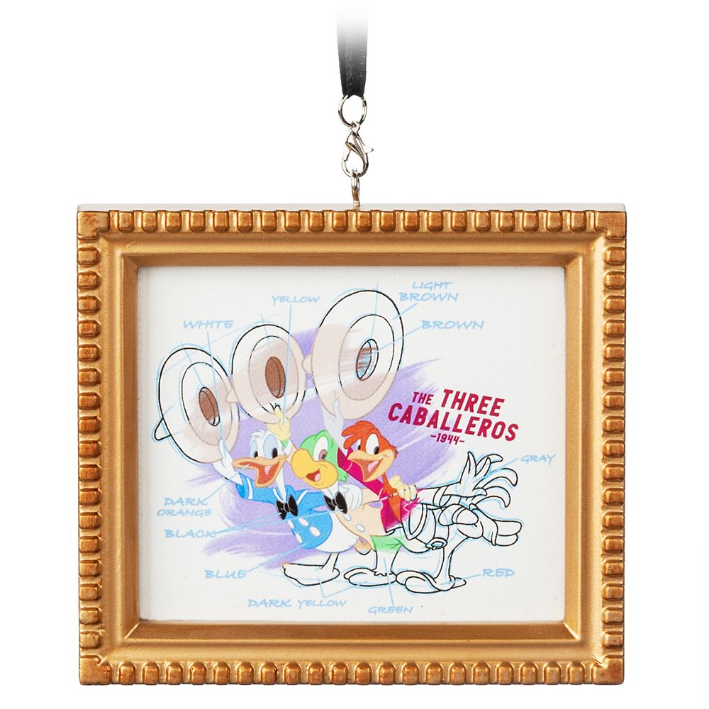The Three Caballeros Framed Canvas Ornament