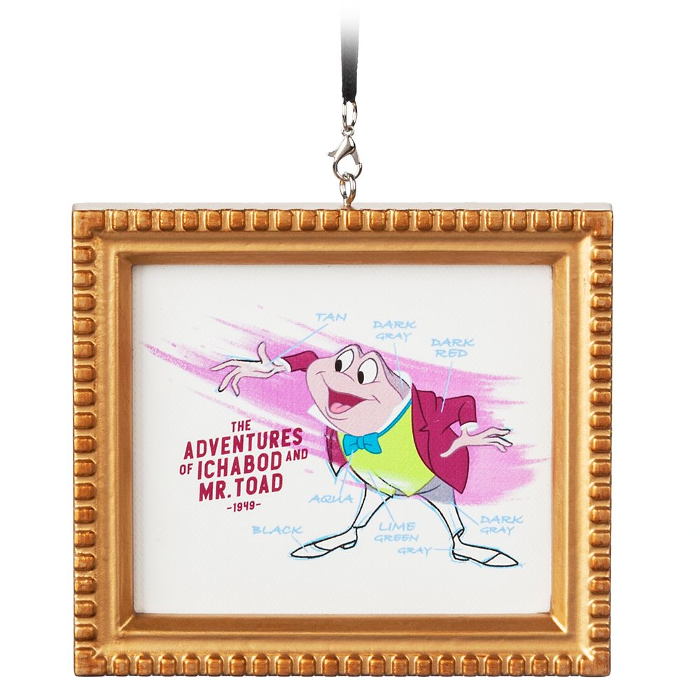 J. Thaddeus Toad Framed Canvas Ornament – The Adventures of Ichabod and Mr. Toad