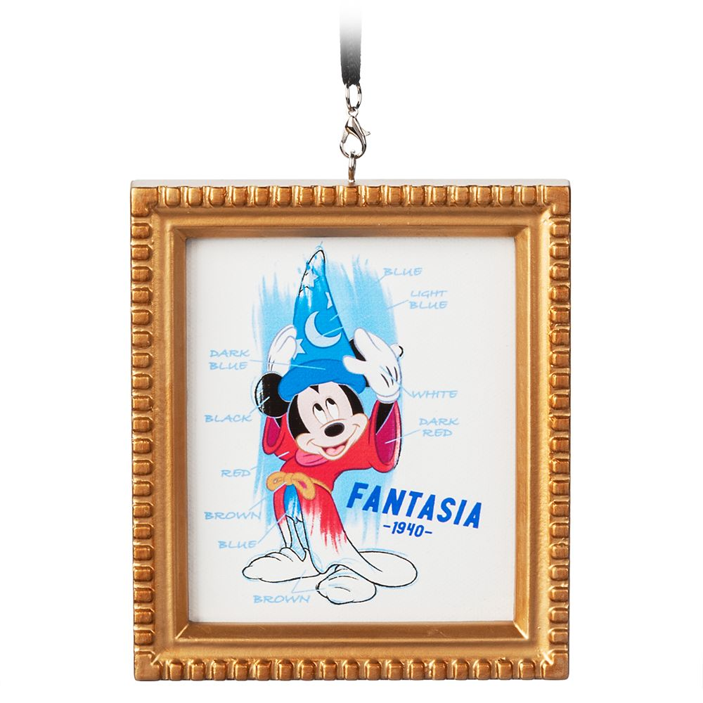 Sorcerer Mickey Mouse Framed Canvas Ornament – Fantasia