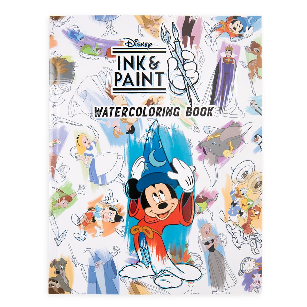 Disney Ink & Paint Watercoloring Book