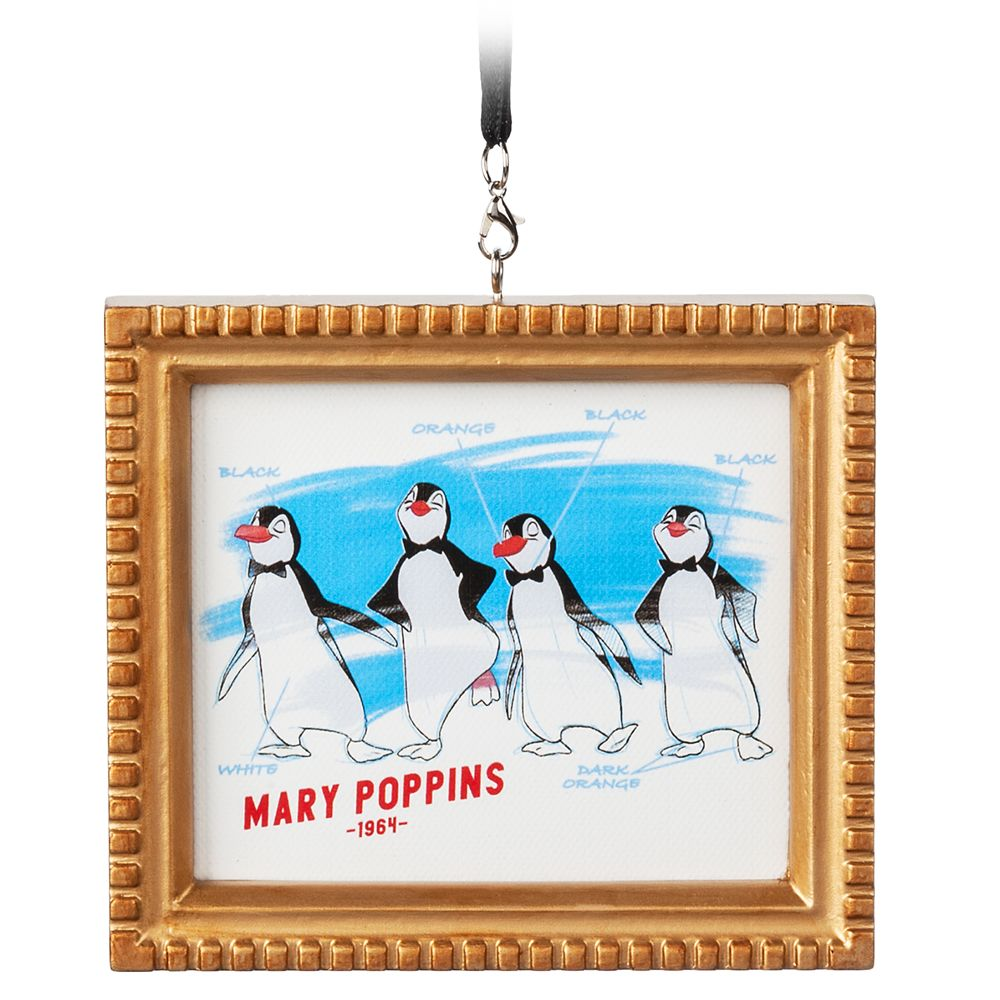 Penguin Waiters Framed Canvas Ornament – Mary Poppins
