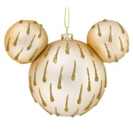 Mickey Mouse Icon Glass Ornament – Gold Drops