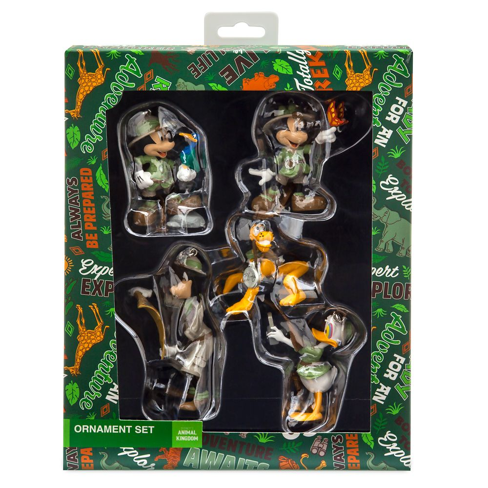 Mickey Mouse and Friends Safari Figurines Ornament Set – Disney's Animal Kingdom