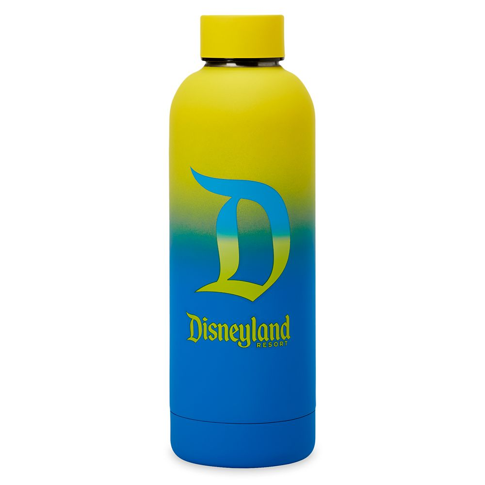 Disneyland Logo Neon Stainless Steel Water Bottle