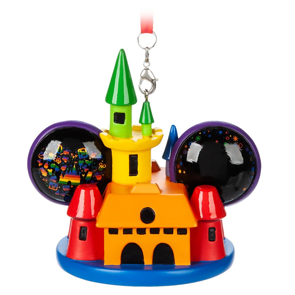Rainbow Disney Collection Mickey and Minnie Mouse Castle Ear Hat Ornament – 2020