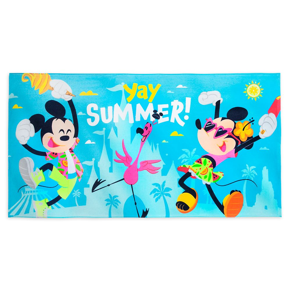 Mickey and Minnie Mouse ''Yay Summer!'' Beach Towel