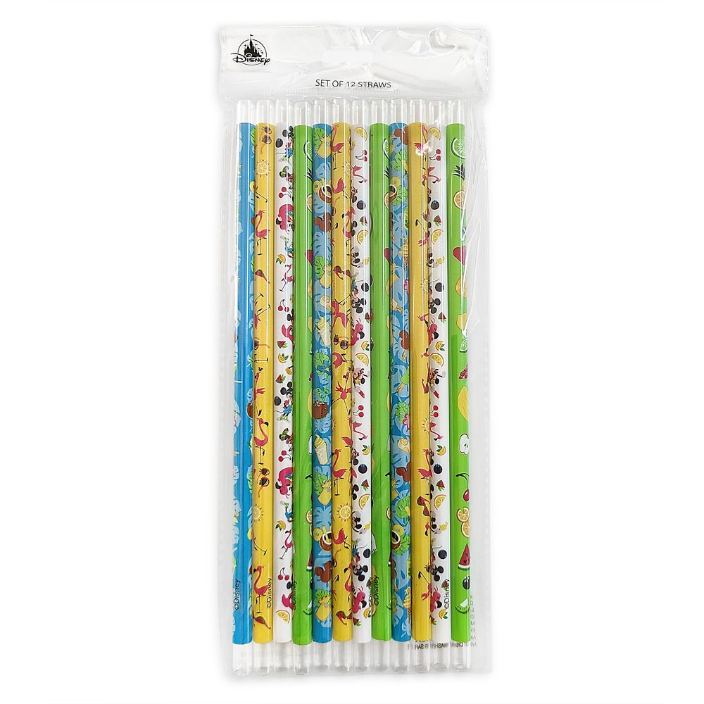 Mickey and Minnie Mouse Plastic Straw Set
