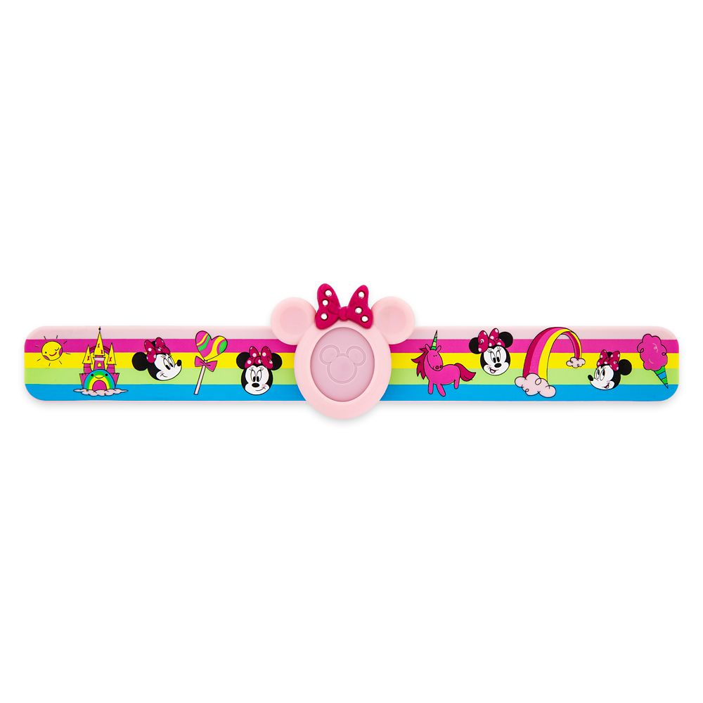 Minnie Mouse Rainbow MagicBand Slap Bracelet