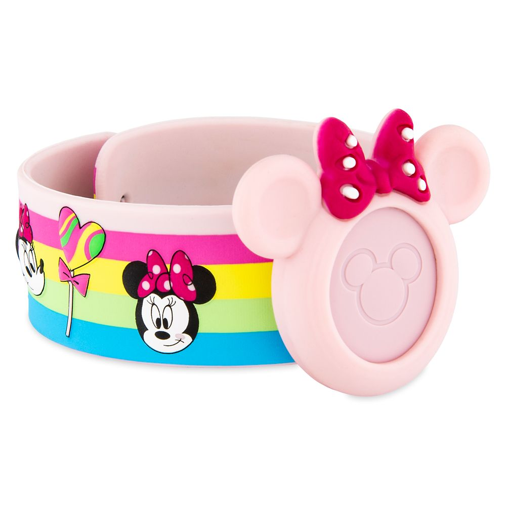 Minnie Mouse Rainbow MagicBand Slap Bracelet