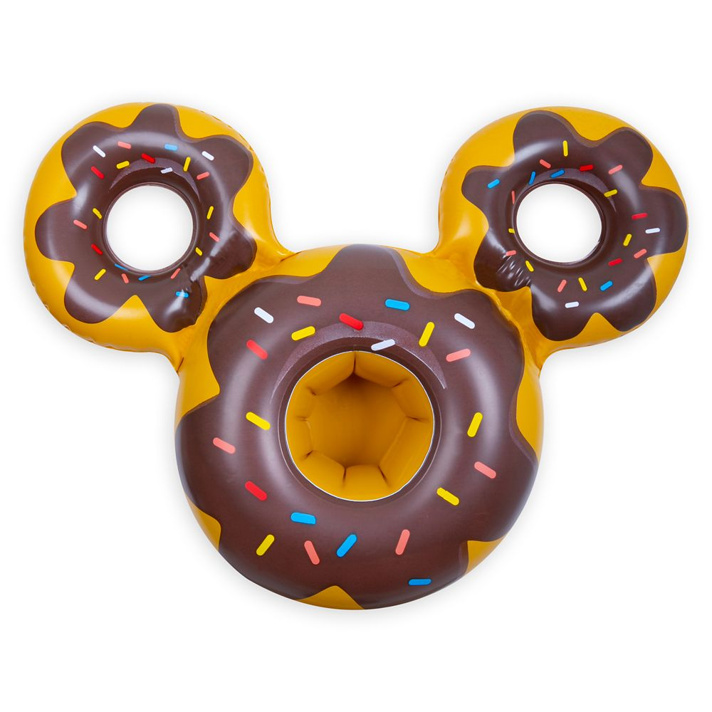 Mickey and Minnie Mouse Donut Floating Drink Holder Set