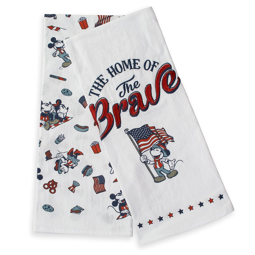 Mickey and Minnie Mouse Americana Kitchen Towel Set