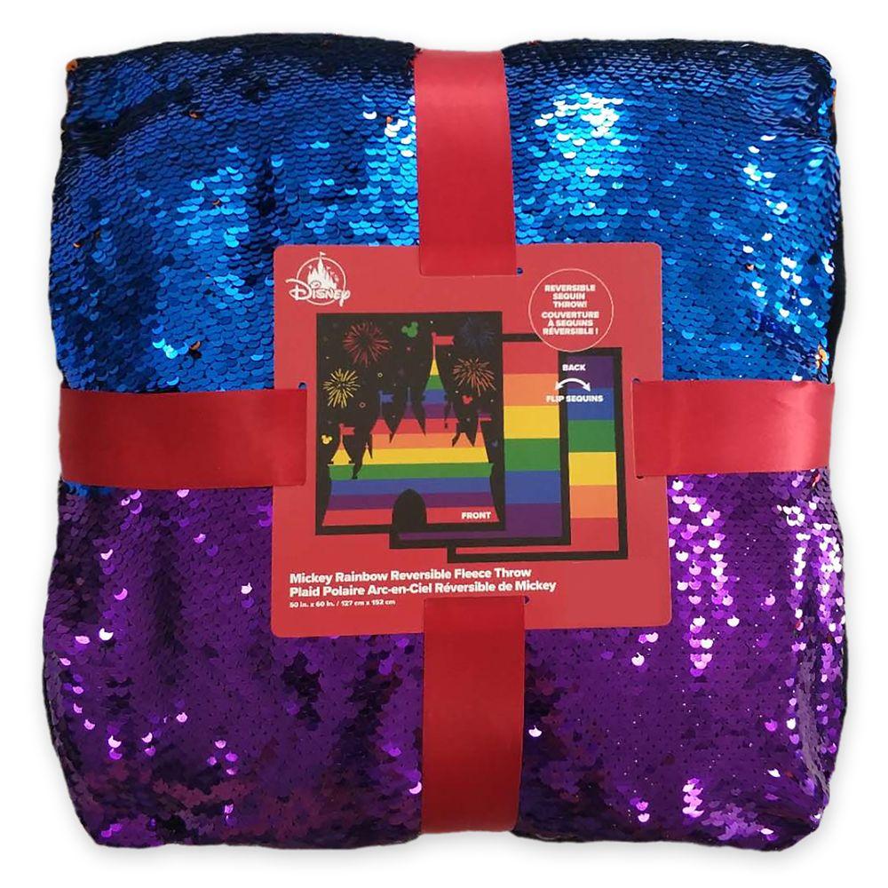Rainbow Disney Collection Reversible Sequin Fleece Throw – 2020