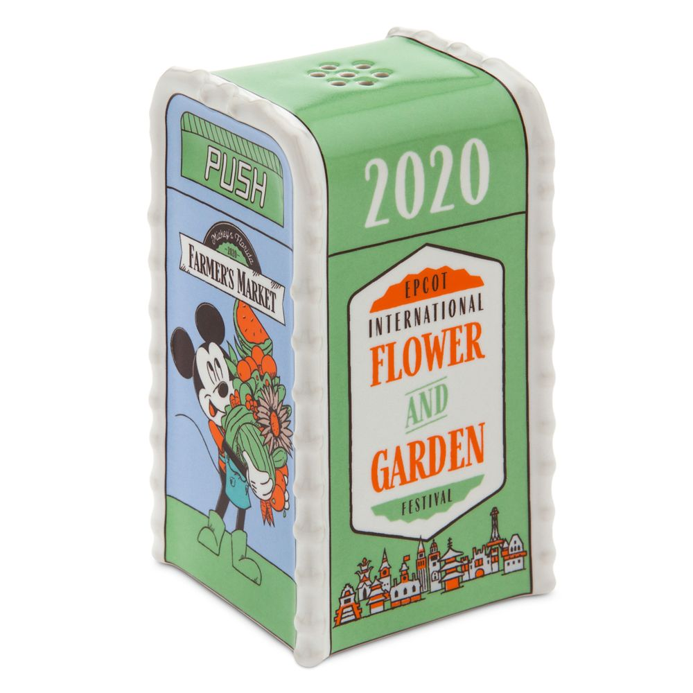Mickey Mouse Trash Can Salt or Pepper Shaker – Epcot International Flower and Garden Festival 2020